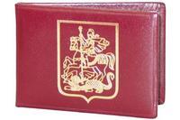 Обложка из кожи с гербом