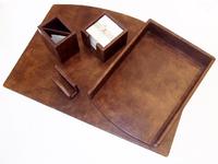 Письменный набор из кожи