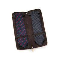 Футляр для галстука на молнии из кожзама