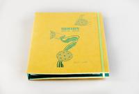 Дизайнерская папка меню на кольцах с резинкой