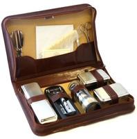Подарочная упаковка из кожи для парфюмерного набора