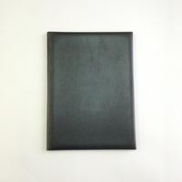 Папка адресная из искусственной черной кожи