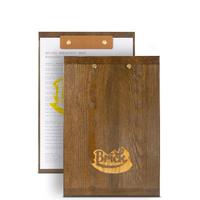 Папка с деревянной подложкой